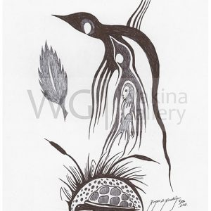 Black and White Series 4 by Roger Noskiye ink  8.5″x 11″