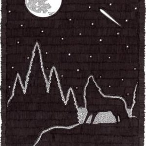 Full Moon Howl by Christopher Chambaud felt-tip on paperboard  8.5″x 11″
