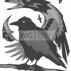 Was The Raven by Christopher Chambaud felt-tip on paperboard  8.5″x 11″