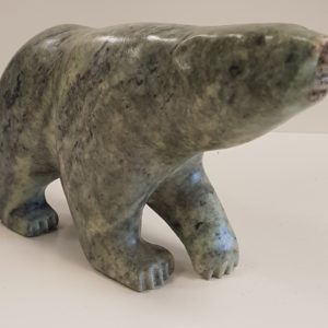 Black and Blue Speckled Polar Bear by Anthony Antoine