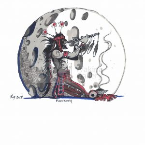 Moonsong by Bill Roy ink on paper  8.5″x 11″