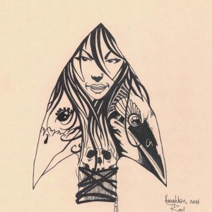 Deadly Arrowhead by Bill Roy ink on paper  8.5″x 11″