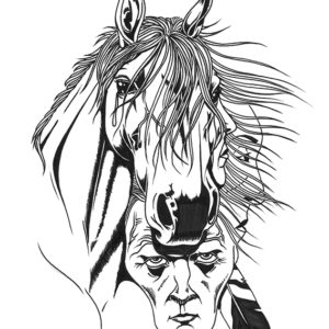 Forgotten Tears by Bill Roy ink on paper  8.5″x 11″