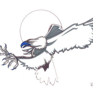 Eagle by Bill Roy original illustration ink on paper  8.5″x 11″