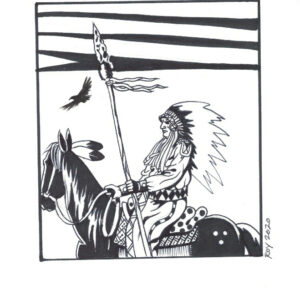 Travel by Bill Roy original illustration ink on paper  8.5″x 11″