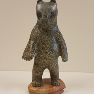 """Where's My Ice?"" handmade original soapstone carving by Anthony Antoine – SOLD"
