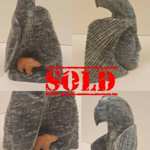 Legends – Original Soapstone Carving by Anthony Antoine – SOLD