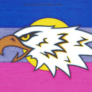"""Eagle"" original illustration by Christopher Chambaud felt-tip on paperboard  8.5″x 11″"