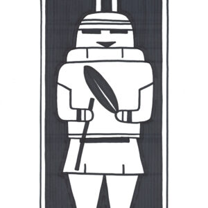 """Golem"" original illustration by Christopher Chambaud felt-tip on paperboard  8.5″x 11″"