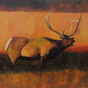 """Caribou"" by Linus Woods acrylic on canvas 24″x 18″ stretched on Wood Frame"