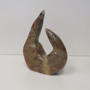 """Birds"" handmade original soapstone carving by Anthony Antoine"