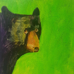 """Summer Bear"" by Linus Woods acrylic on canvas 11″x 14″ stretched on Wood Frame"