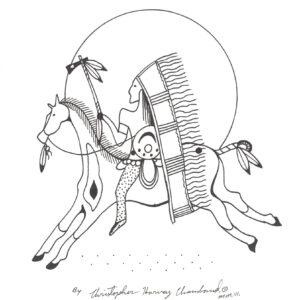 """Untitled"" original illustration by Christopher Chambaud felt-tip on paperboard  8.5″x 11″"