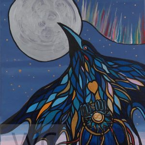 The Raven by Bill Roy acrylic on canvas 16″x 20″ framed