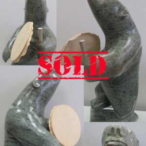 Large Drumming Bear by Anthony Antoine – SOLD