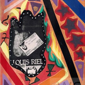 Louis #2 by Scott Stonechild original painting mixed media on canvas 8″x 10″ framed