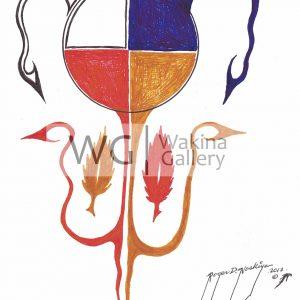 Four Seasons by Roger Noskiye ink  8.5″x 11″