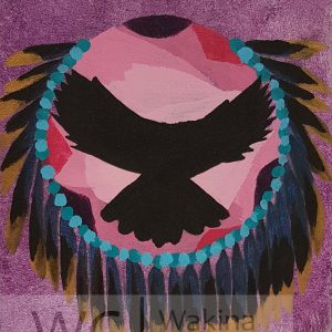 Eagle Spirit by Scott Stonechild acrylic on canvas 10″x 12″ stretched on wooden frame