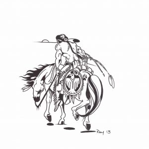Warrior by Bill Roy ink on paper  8.5″x 11″