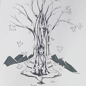 Autumn by Bill Roy original illustration ink on paper  8.5″x 11″