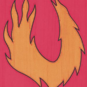 Flame by Christopher Chambaud (from the Western Native News Collection) felt-tip on paperboard  8.5″x 11″