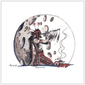 Moonsong Greeting Card – Bill Roy