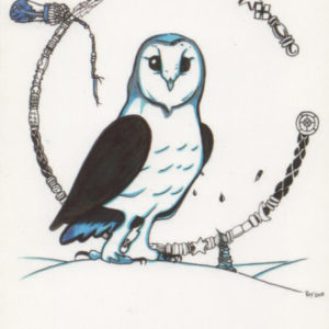Cold Old Owl Greeting Card – Bill Roy