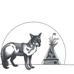 Guard Dog by Bill Roy original illustration ink on paper  8.5″x 11″