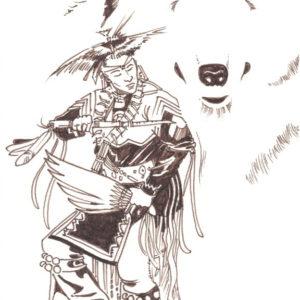 Dance by Bill Roy original illustration ink on paper  8.5″x 11″