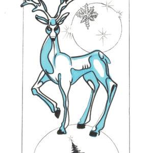 """Majestic"" by Bill Roy original illustration ink on paper  8.5″x 11″"