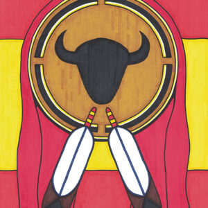 """Shield"" original illustration by Christopher Chambaud felt-tip on paperboard  8.5″x 11″"