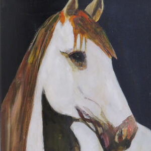 """""""Horse"""" by Linus Woods acrylic on canvas 24″x 18″ stretched on Wood Frame"""