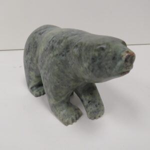 """""""Blue Bear 2"""" original soapstone carving by Anthony Antoine"""