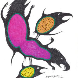 Monsters by Roger Noskiye ink  8.5″x 11″